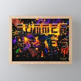 Summer Vibes (Midnight) Framed Mini Art Print