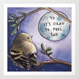Bird no. 443: Listen to the Moon Art Print