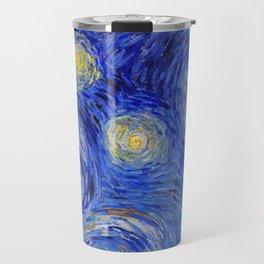 "Vincent Van Gogh "" Starry Night "" , Partial expansion Travel Mug"