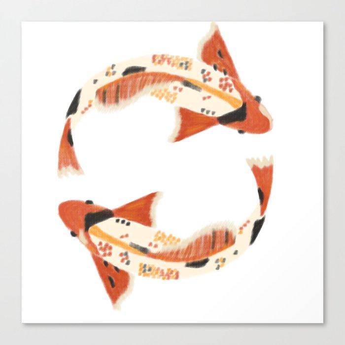 koi fish Canvas Print