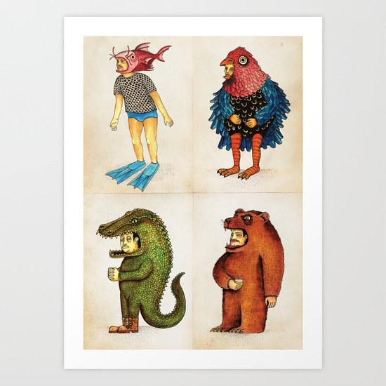 Costumes - Animalados Art Print