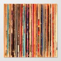 vinyl Canvas Prints featuring Vinyl by bomobob