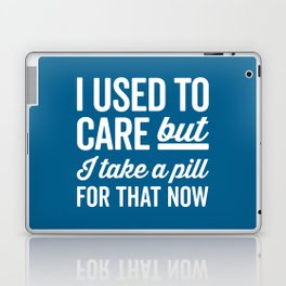 I Used To Care Funny Quote Laptop & iPad Skin