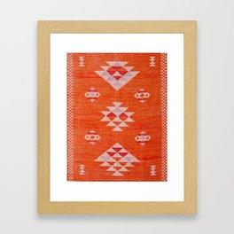 Vintage Orange Anthropologie Moroccan Artwork. Framed Art Print