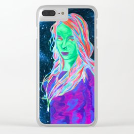 Space girl Clear iPhone Case