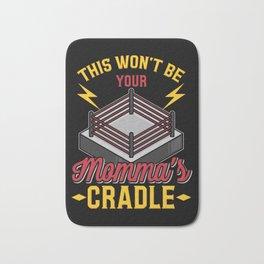 Momma's Cradle Grappling Wrestling Fan Dad Wrestler Gift Bath Mat