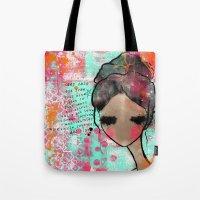 keep calm Tote Bags featuring keep calm by SannArt