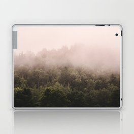 Pink Foggy Forest Landscape Photography Nature Earth Laptop & iPad Skin