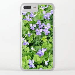 Violets in Clover Bed Clear iPhone Case