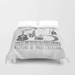 Weapons Of Mass Creation - Music (on paper) Duvet Cover