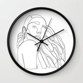 La Femme Qui Aime Sa Mélanine Wall Clock