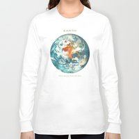 earth Long Sleeve T-shirts featuring Earth by Terry Fan