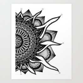 Sol Bloom Art Print