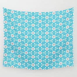 Tilly pattern - blue+grey Wall Tapestry