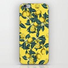 Lemon and Leaf Pattern III iPhone & iPod Skin