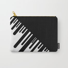 Black and White Meteor Shower Carry-All Pouch