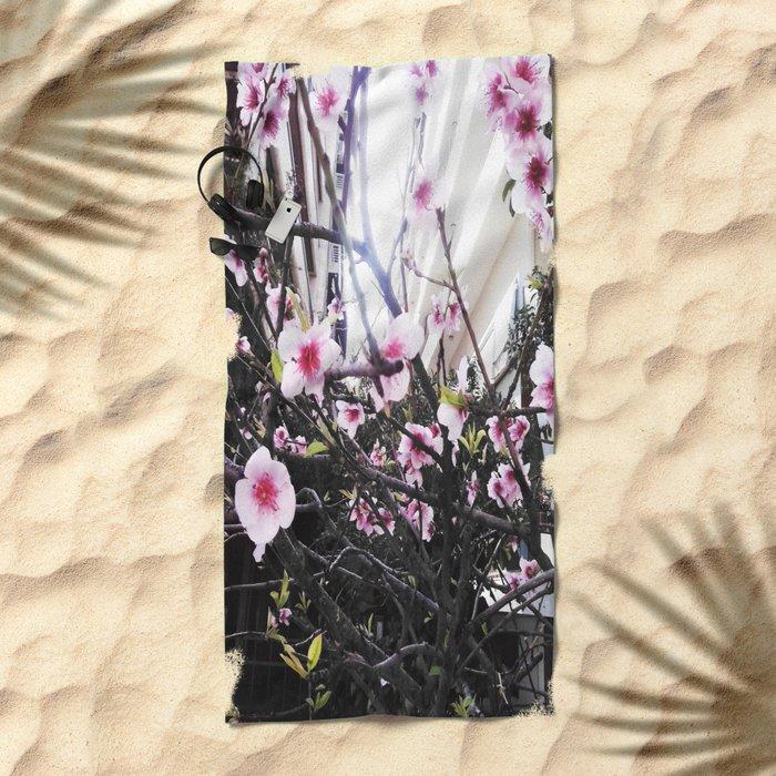 Αlmond tree Beach Towel
