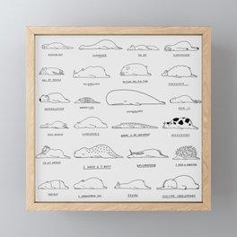 Moody Animals Pattern Framed Mini Art Print