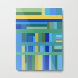 Cool Color Composition Metal Print