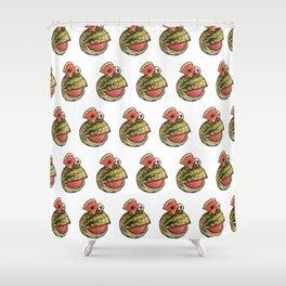 Watermelon Frog Shower Curtain