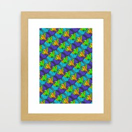 Tessellated Parrots Framed Art Print