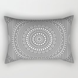 Decorative mandala pattern in gray tones. Rectangular Pillow