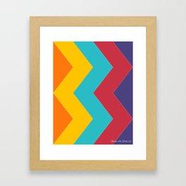 Chevron Chic  Framed Art Print