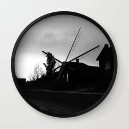 Silhouetted Stillness Wall Clock