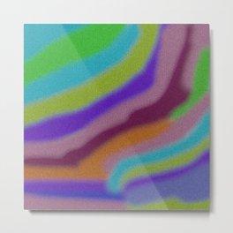 Rainbow Tiled Moasic Stripes Bands Metal Print