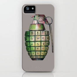 Your Keyboard is your weapon Grenade iPhone Case