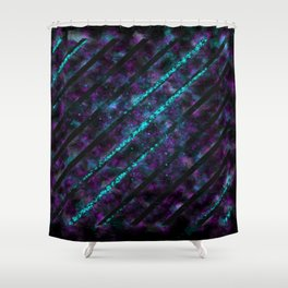 Space Monster - Abstract - Minimalist - Manafold Art Shower Curtain