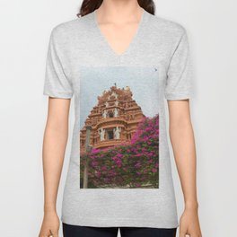Divine towers of South India Unisex V-Neck