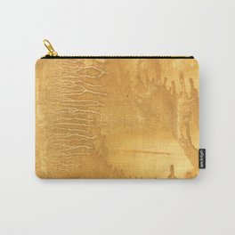 Sandy brown clouded watercolor Carry-All Pouch