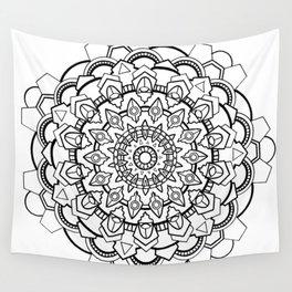Snow Mandala Wall Tapestry