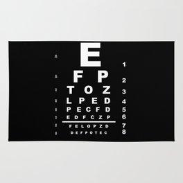 Inverted Eye Test Chart Rug
