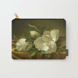 Magnolias on Gold Velvet Cloth Carry-All Pouch