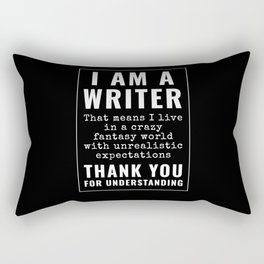 I Am A Writer Gift Funny Author Gifts Writing Rectangular Pillow