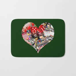 Heart Playing Card Shape - Las Vegas Icons Bath Mat