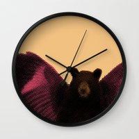beard Wall Clocks featuring Beard by Triplea