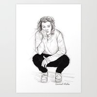 coconutwishes Art Prints featuring Cute Harry by Coconut Wishes