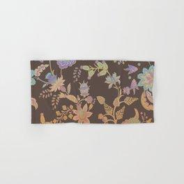 Chateau Brown Chinoiserie Decorative Floral Motif Chintz Hand & Bath Towel