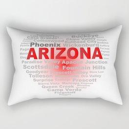 Arizona Word Cloud Heart Rectangular Pillow