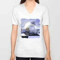 imagine V-neck T-shirts featuring Imagine by thea walstra
