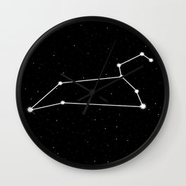 Leo Star Sign Night Sky Wall Clock