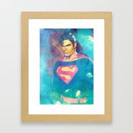 The Real Man Of Steel Framed Art Print