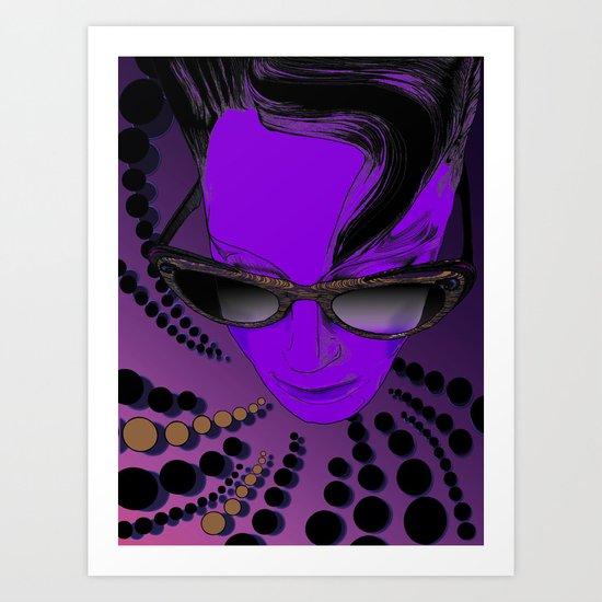 Wanda Mauve Art Print
