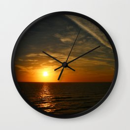 A Heavenly November Sunset Wall Clock