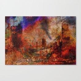 Le soir de la city Canvas Print