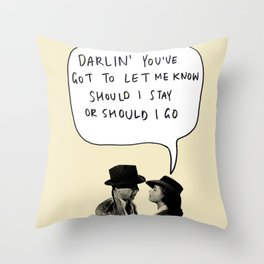 clashablanca Throw Pillow