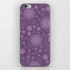 Beautiful Flowers in Purple Vintage Floral Design iPhone Skin
